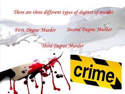 Types Of Murders Degrees